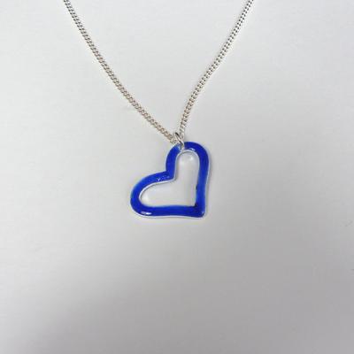 Goudsmid Edelsmid Ylva Roël. Design sieraden, ontwerp laten maken Haarlem. zilver, emaille Zilveren collier. H186