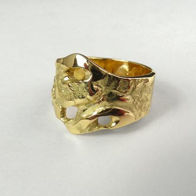 Goudsmid Edelsmid Ylva Roël. Design sieraden, ontwerp laten maken Haarlem. goud Gouden ring. R185