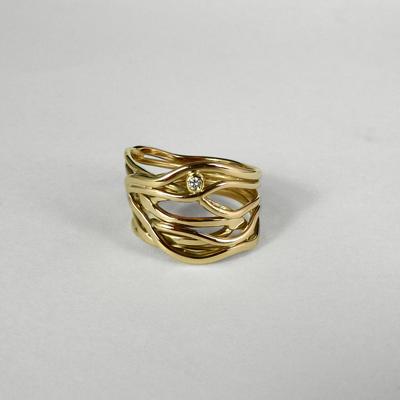 Goudsmid Edelsmid Ylva Roël. Design sieraden, ontwerp laten maken Haarlem.   ring. V202