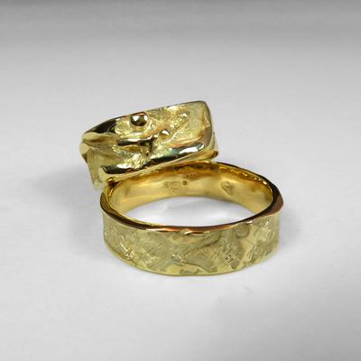 Goudsmid Edelsmid Ylva Roël. Design sieraden, ontwerp laten maken Haarlem.   trouwringen. R200